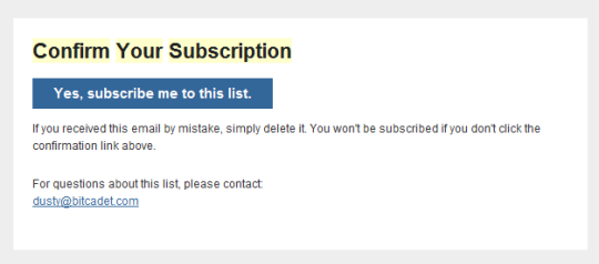 A/B Testing E-mail Subscriptions